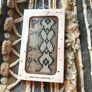Casery IPHONE XR case snakeskin new in box